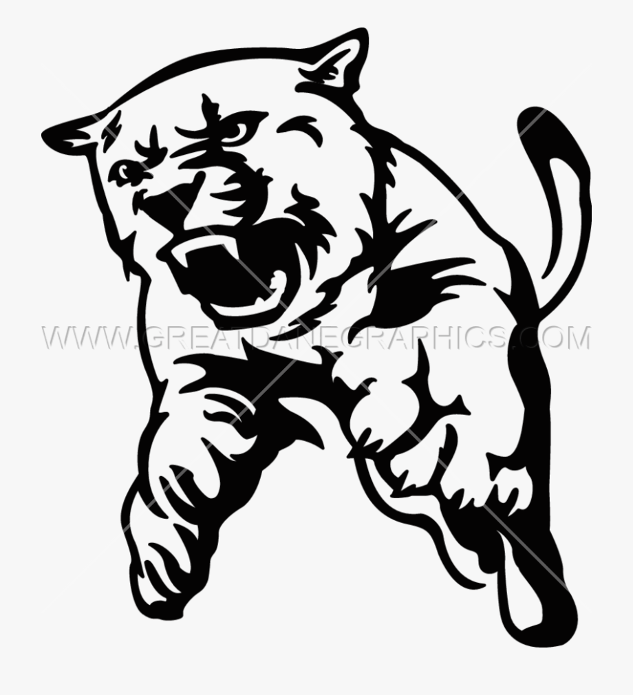 Cougar Clipart Black And White , Transparent Cartoon, Free.