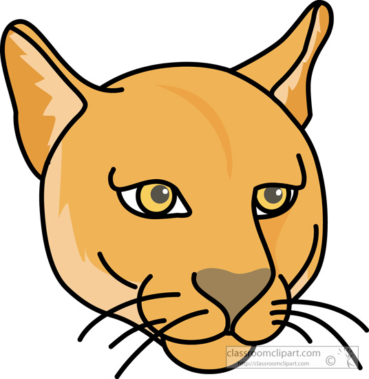 Large Cougar Clipart.