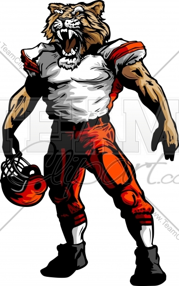 Cougar Football Clipart and More Football Player Mascots..