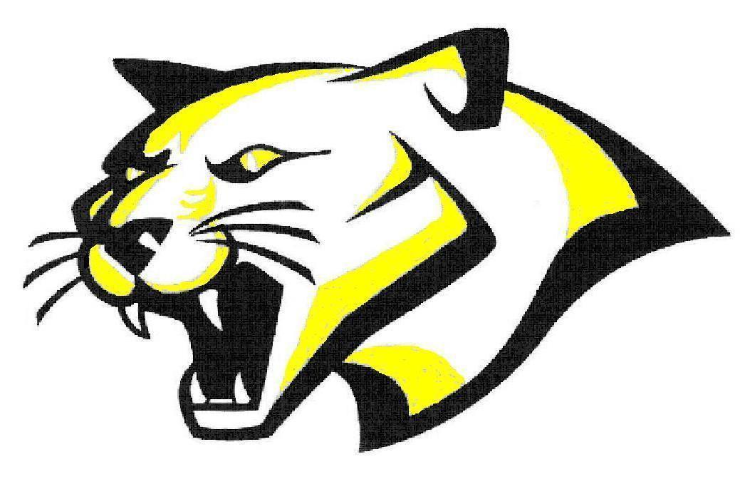 Clipart of the High School Cougar Mascot symbol free image.