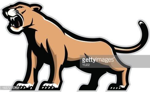 Cougar mascot Clipart Image.