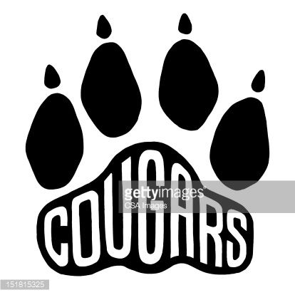 Image result for cougar paw print graphic.