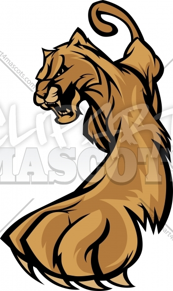 Cougar Clipart Graphic Vector Logo.