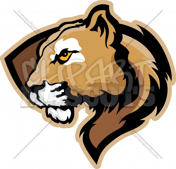 Cougar Clipart Graphic Vector Cartoon.