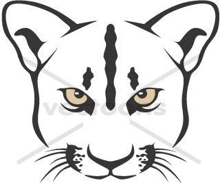Free Cougar Head Clip Art.