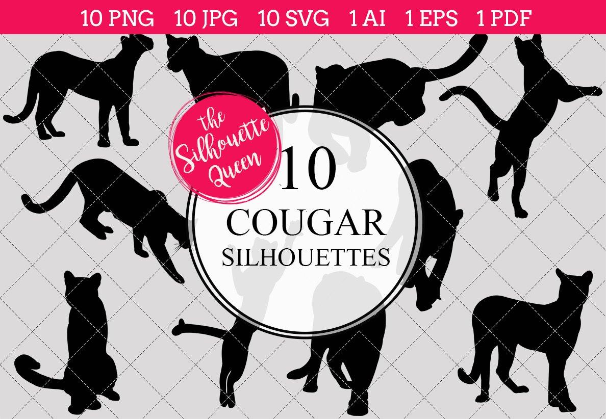 Cougar Silhouette Clipart Clip Art.
