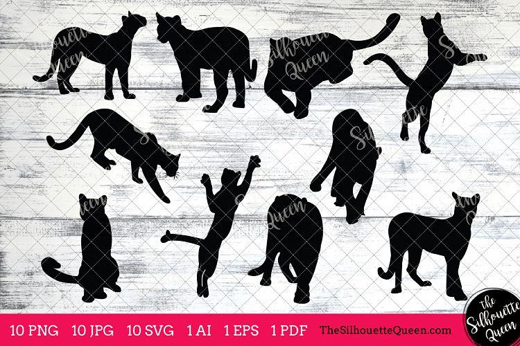 Cougar Silhouettes Clipart Clip Art(AI, EPS, SVGs, JPGs, PNGs, PDF), Cougar  Clip Art Clipart Vectors.
