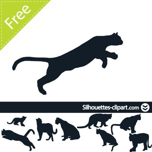 cougar vector silhouette.