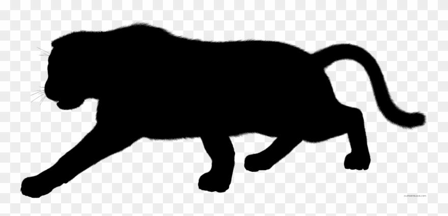 Black Panther Leopard Cougar Silhouette Jaguar.