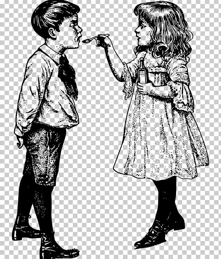 Drawing Child Cough Medicine PNG, Clipart, Black And White.