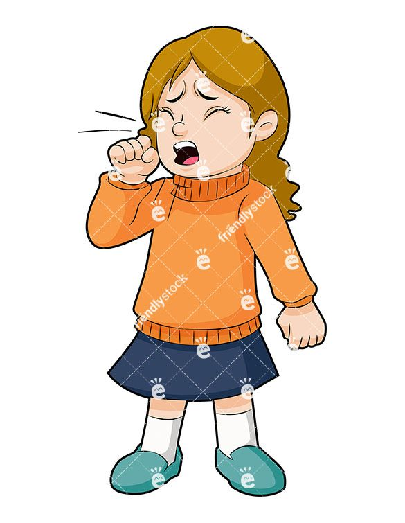 A Little Girl Coughing And Not Feeling Well Who May Have To Go Home.