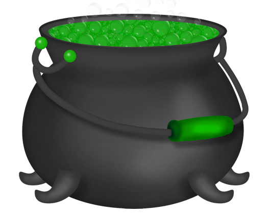 Halloween Green Witch Cauldron Clipart in 2019.