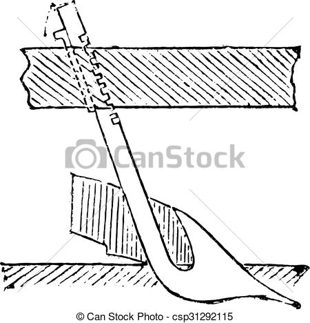 Vector Clip Art of Coulter, vintage engraving..