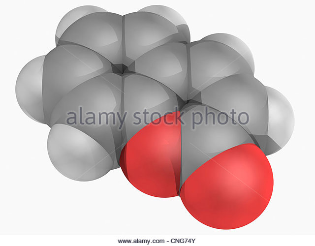 Coumarin Molecular Model Fragrant Organic Stock Photos & Coumarin.
