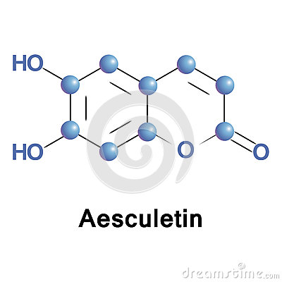 Aesculetin Derivative Of Coumarin Stock Vector.