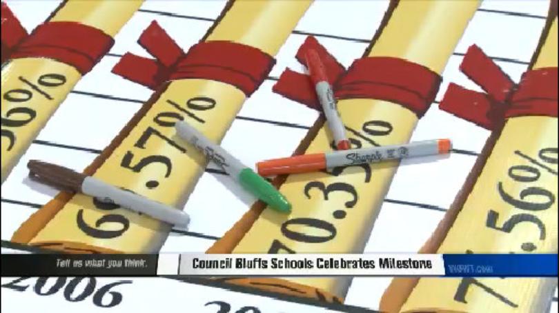 Council Bluffs Schools celebrates milestone.