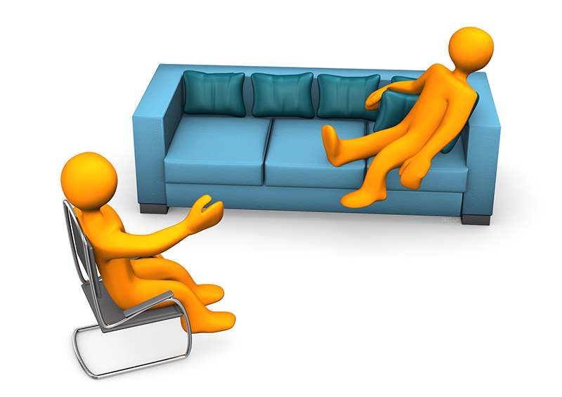 Counseling session clip art.