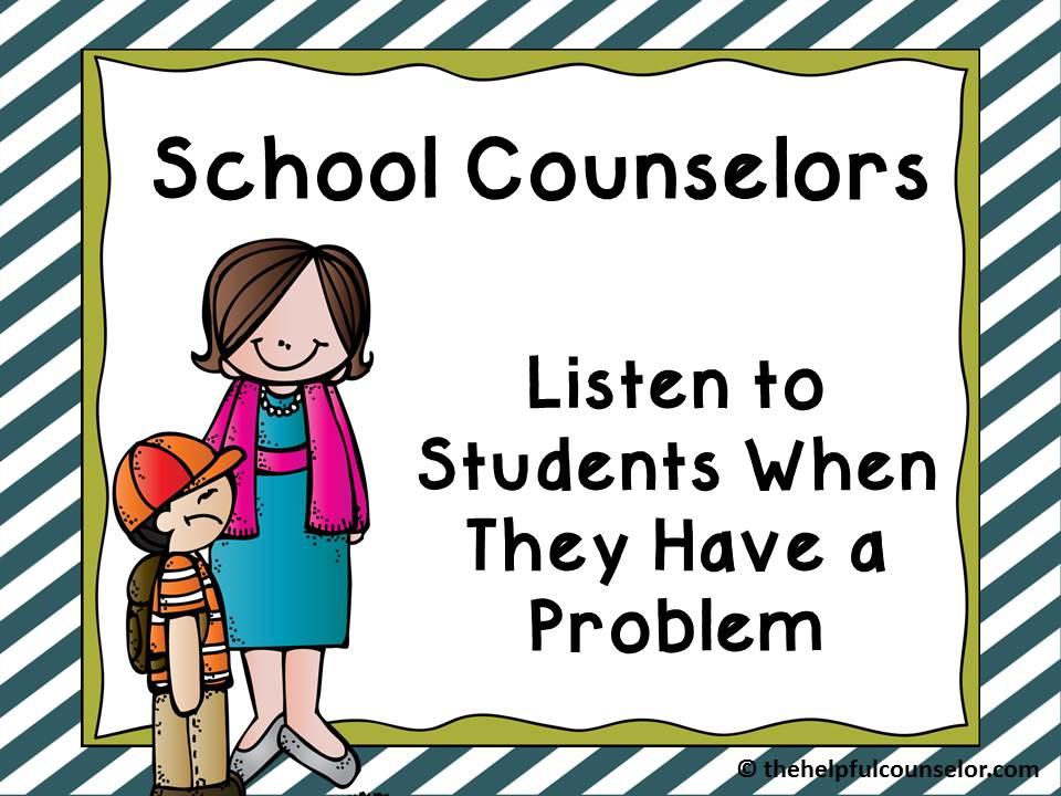 Elementary school counselor clip art.