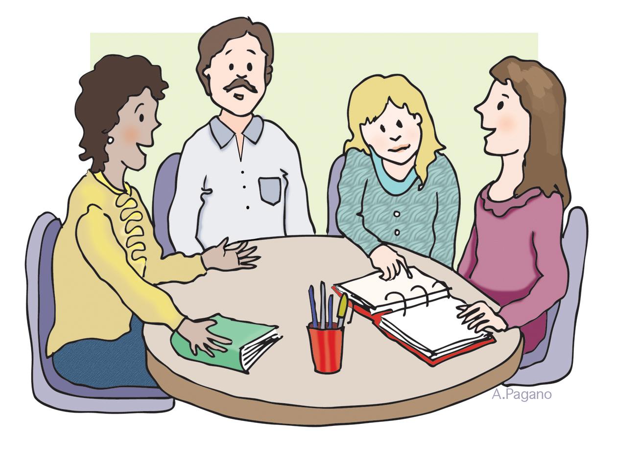 School Meeting Clipart.