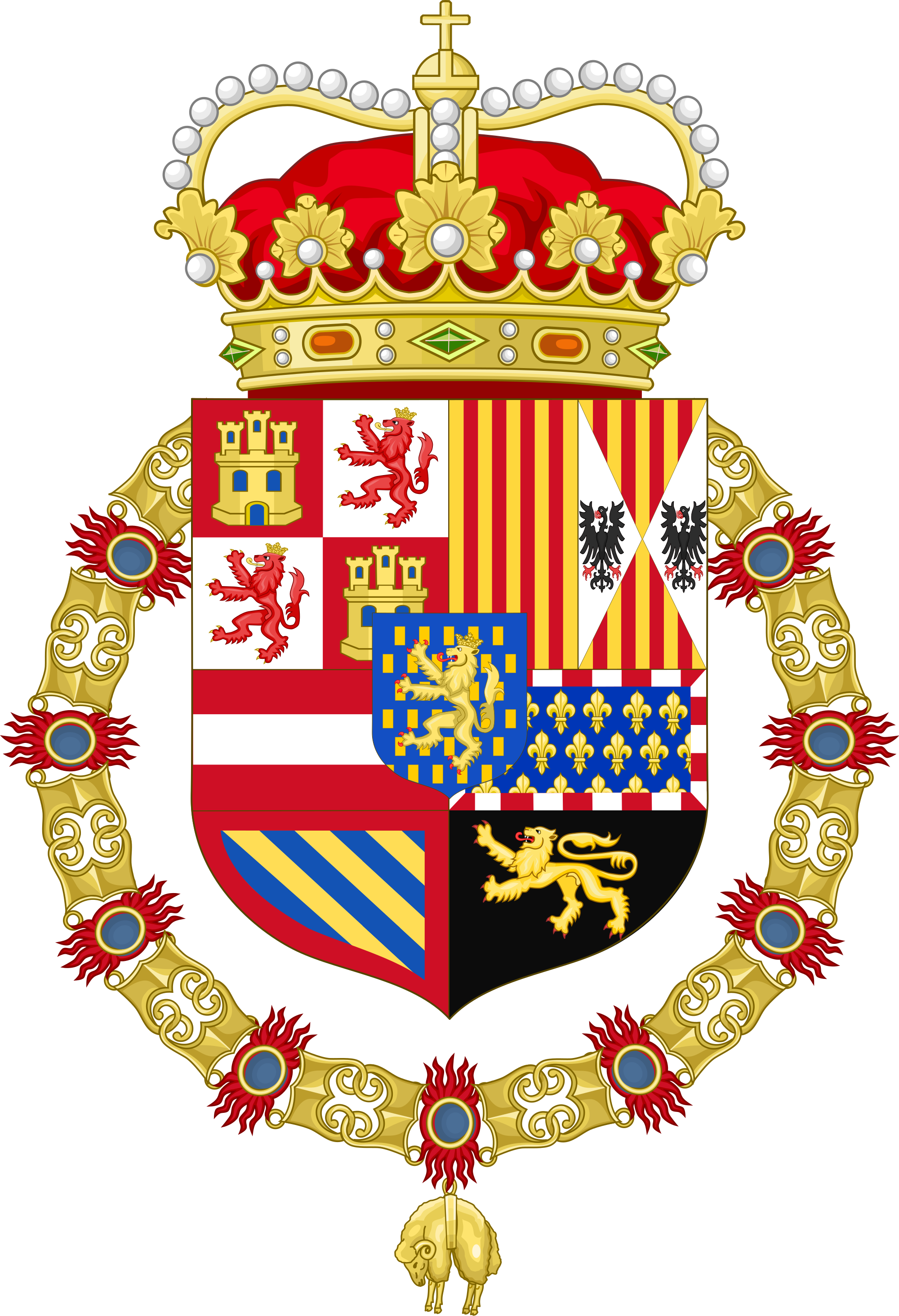 File:Royal Coat of Arms of the Count Palatine of Burgundy (1556.