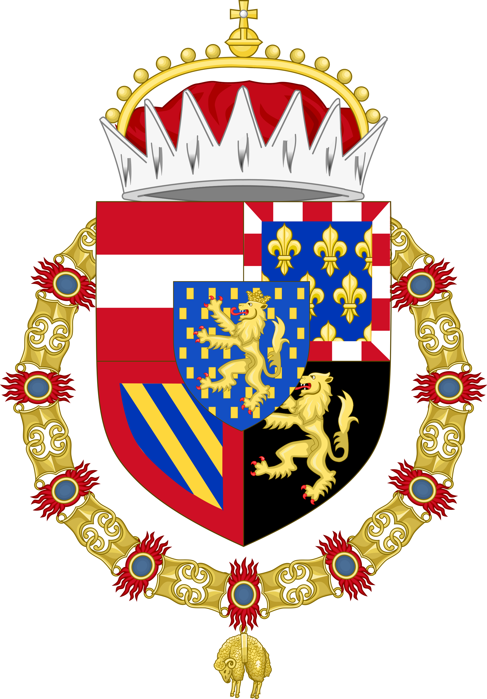 File:Coat of Arms of Philip VI Count Palatine of Burgundy.svg.