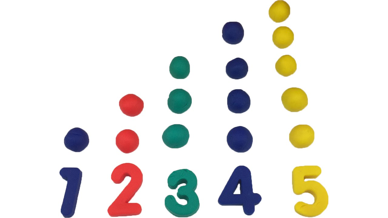 Numbers 1 To 5 Clipart.