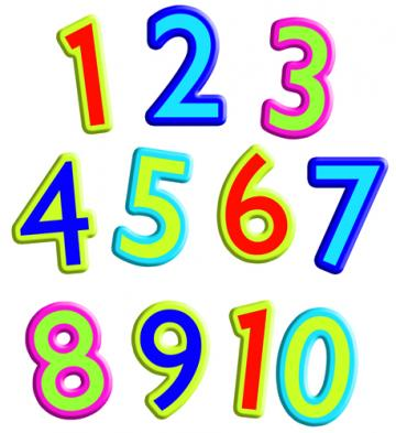 Counting 1 To 10 Clipart.