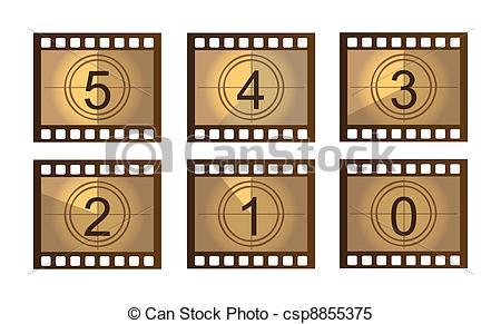 Movie countdown clip art.