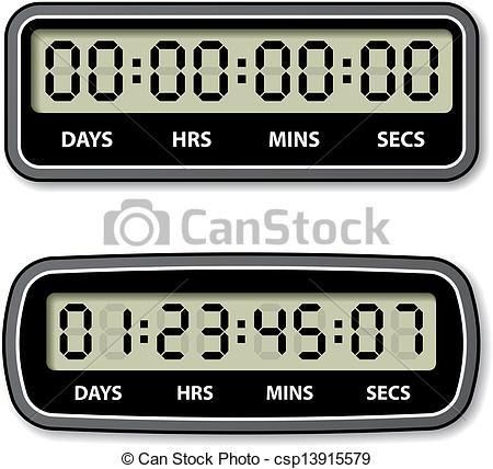 Countdown clock clipart.