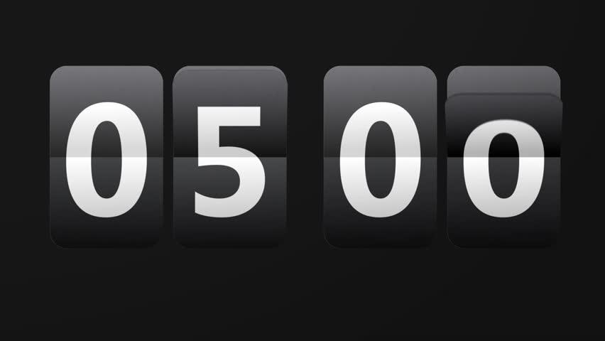 Flip Clock 24 Hours Countdown Stock Footage Video (100% Royalty.