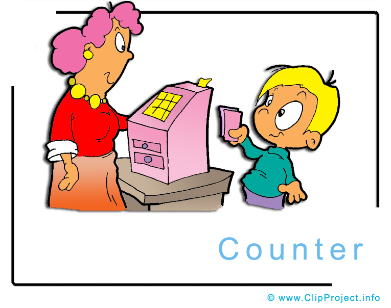 Counter Clipart Image.