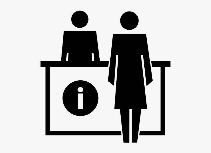 Help Desk Person Icon.