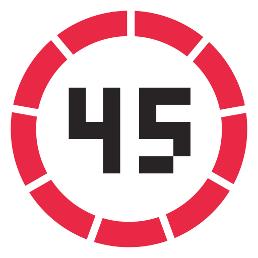 45 minutes counter icon.