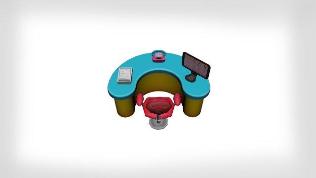 Counter Table 3D Model / Bench .max .c4d .obj .3ds .fbx .lwo .stl.