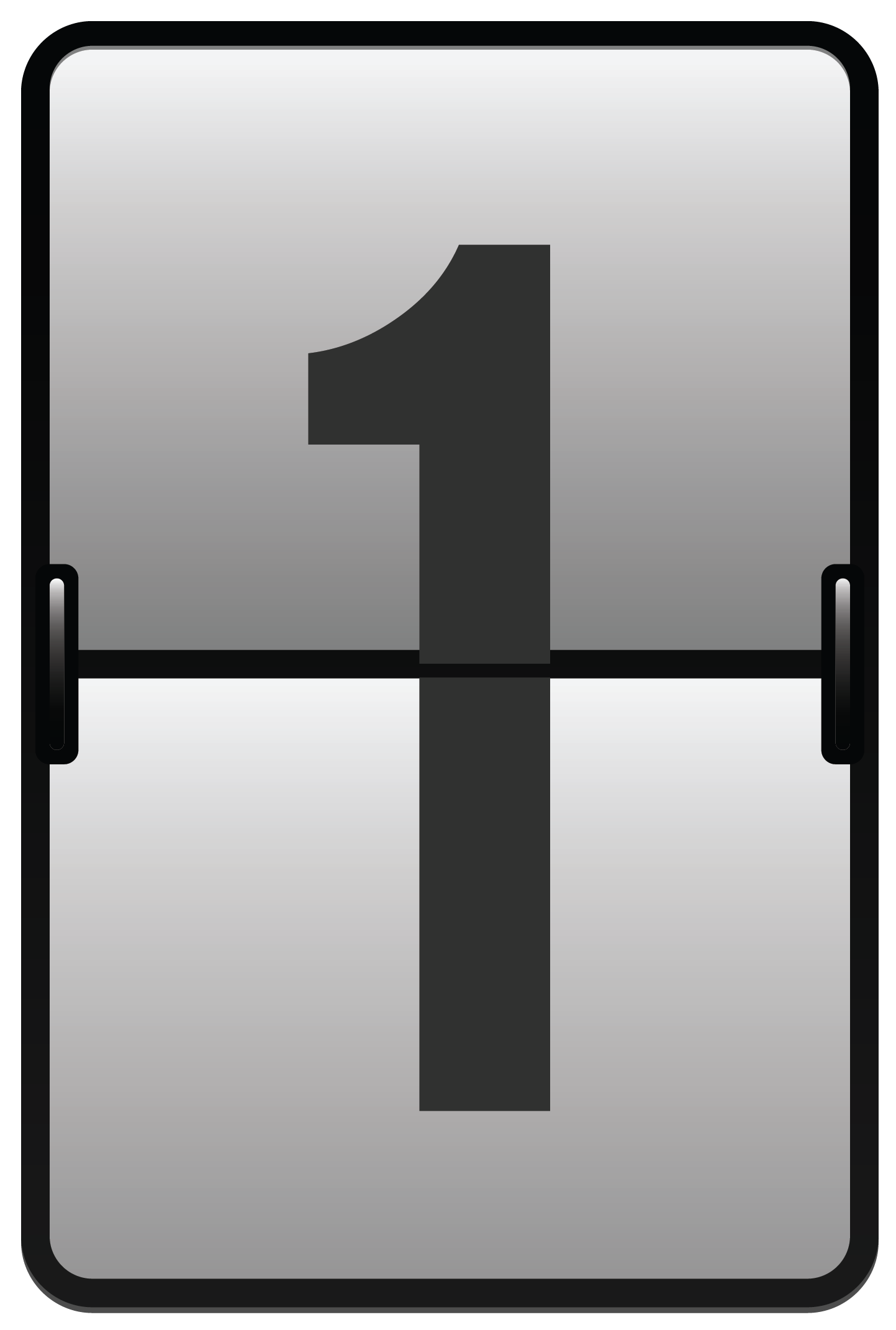 Counter Number One PNG Clipart Image.