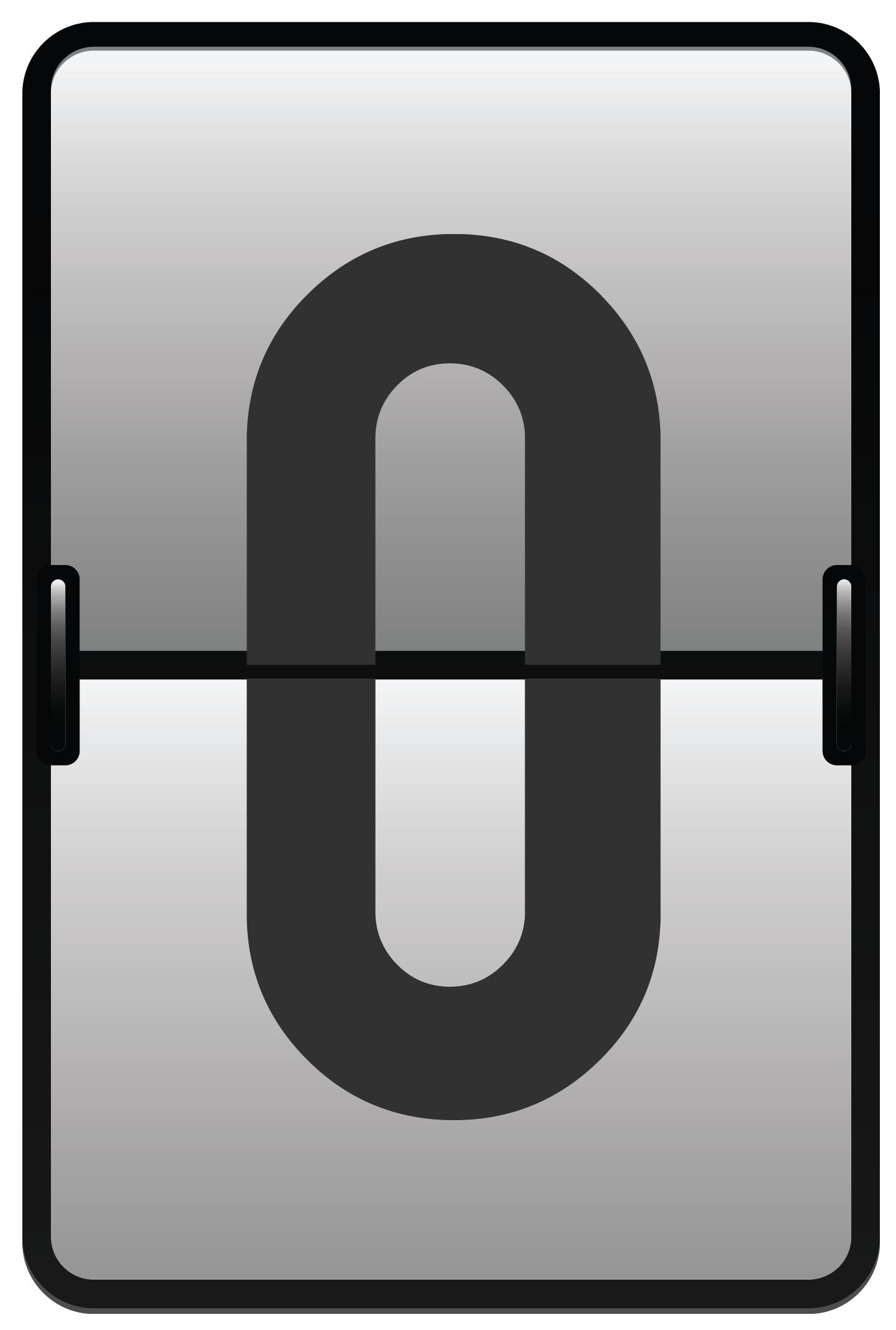 Counter Number Zero PNG Clipart Image.