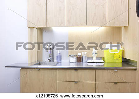 Stock Images of sink and counter top in doctors office x12198726.