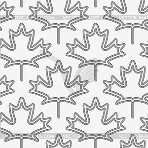 Perforated maple leaves double countered.