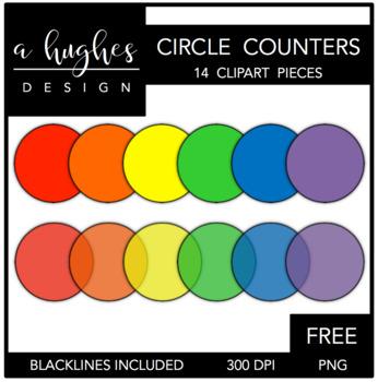 FREE Circle Counters Clipart {A Hughes Design}.