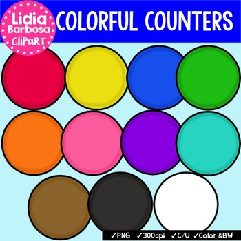 Counters Clip Art & Worksheets.