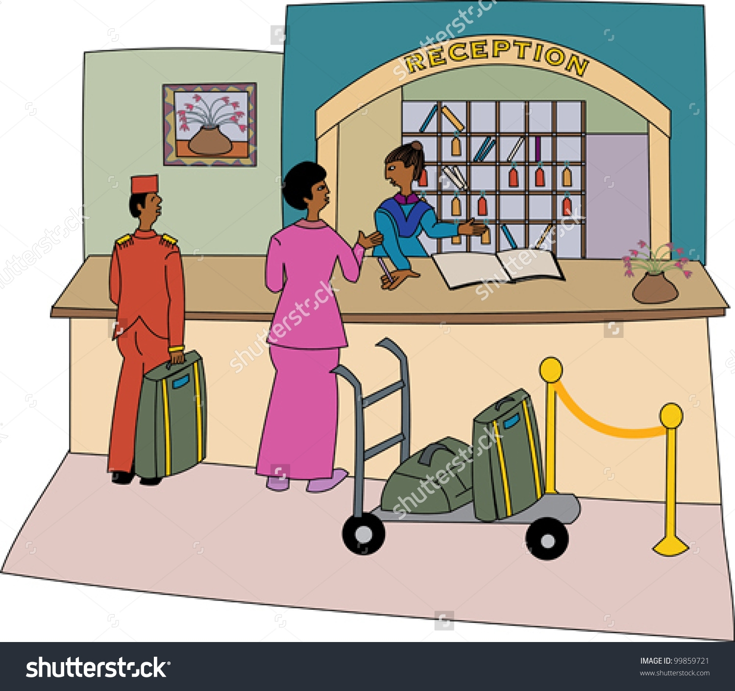Home Design : Hotel Reception Desk Clipart Roofing Architects.