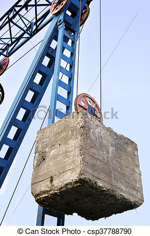 Stock Photographs of Counterweight on the cable car.