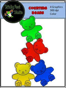 Counting Bears Clip Art For Math.