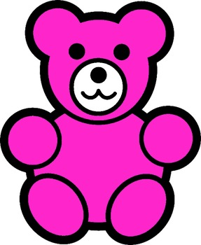counting bears clip art.