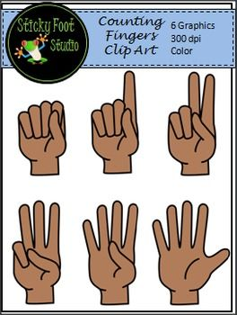 Counting Fingers Clip Art Freebie.