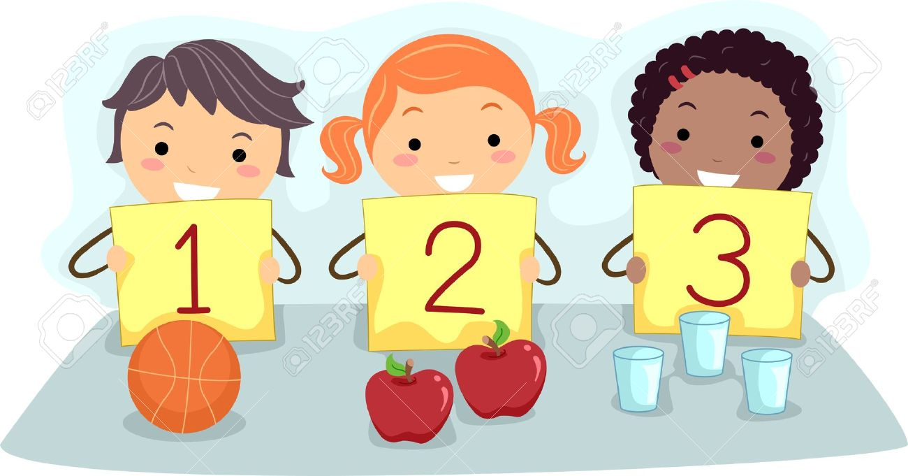 Child counting clipart.
