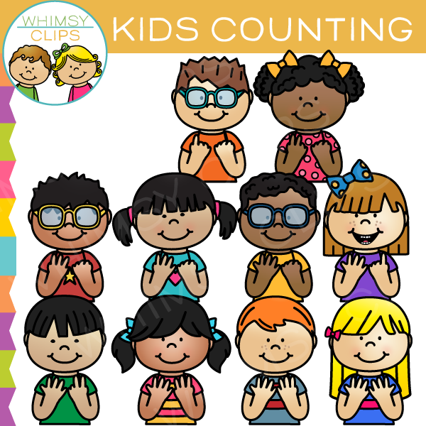 Kids Counting Clip Art , Images & Illustrations.