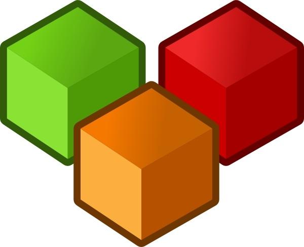Cubes clipart.