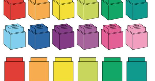 Counting cubes clipart.