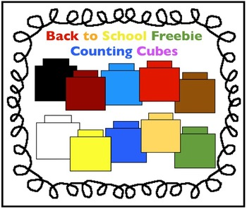 Back to School Freebie: Counting Cubes Clipart by Charlotte's.